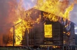 Fuego de la casa Imagenes de archivo