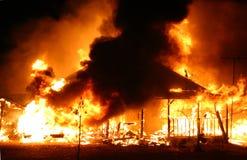 Fuego de la casa Fotos de archivo libres de regalías