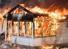 Fuego de la casa Fotografía de archivo