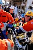Fuego de la emergencia en puerto de transbordador imágenes de archivo libres de regalías
