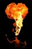Fuego de la escupida Fotografía de archivo libre de regalías