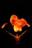 Fuego de la escupida Fotografía de archivo