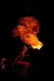 Fuego de la escupida Imagen de archivo
