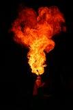 Fuego de la escupida Imagenes de archivo