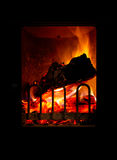 Fuego de la estufa Fotos de archivo libres de regalías