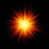 Fuego de la explosión de la estrella Foto de archivo libre de regalías