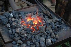 Fuego de la fragua Fotos de archivo libres de regalías