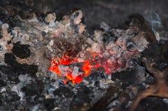 Fuego de la fragua Imágenes de archivo libres de regalías
