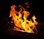 Fuego de la herrería Imagen de archivo libre de regalías