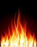 Fuego de la llama de la quemadura Imagen de archivo libre de regalías