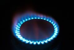 Fuego de la llama del gas Imagen de archivo