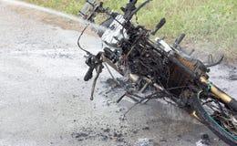 Fuego de la moto Imagen de archivo libre de regalías