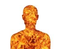 Fuego de la naturaleza humana Imagen de archivo libre de regalías