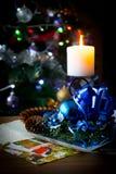 Fuego de la Navidad imagen de archivo