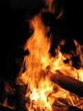 Fuego de la noche Foto de archivo