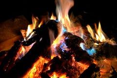 Fuego de la noche Foto de archivo libre de regalías