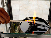 Fuego de la oblación Imagen de archivo libre de regalías