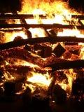 Fuego de la playa Fotografía de archivo
