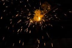 Fuego de la soldadura foto de archivo libre de regalías