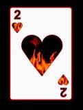 Fuego de la tarjeta del amor Foto de archivo