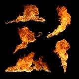 Fuego de la textura de la colección Fotografía de archivo libre de regalías