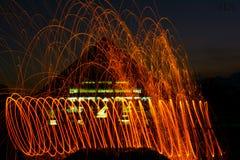 Fuego de la vuelta foto de archivo libre de regalías