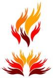 Fuego de las manos Imagen de archivo