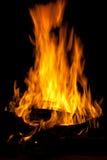 Fuego de madera Fotografía de archivo libre de regalías