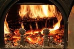 Fuego de madera Fotografía de archivo