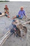 Fuego de madera Imagenes de archivo