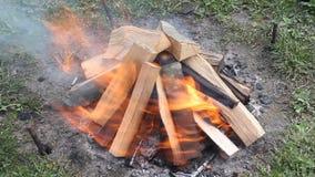 Fuego de madera metrajes