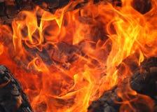 Fuego de madera Fotos de archivo libres de regalías