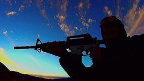 Fuego de PRUEBA del rifle AR-15 10 X almacen de video