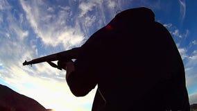 Fuego de PRUEBA del rifle de Garrand 1 almacen de video