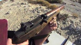 Fuego de PRUEBA del rifle de Garrand 2 SLO MES almacen de video