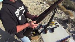 Fuego de PRUEBA del rifle de Garrand 3 SLO MES almacen de video