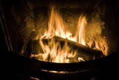 Fuego de registro Imagenes de archivo