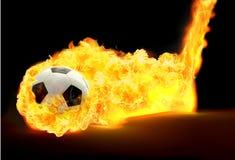 Fuego de Soccerball ilustración del vector