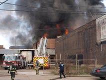 Fuego de Warehouse Fotografía de archivo