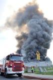 Fuego de Warehouse Imagen de archivo