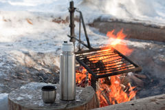 Fuego del campo Foto de archivo libre de regalías