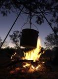 Fuego del campo Foto de archivo