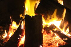 Fuego del campo Imagenes de archivo