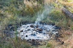 Fuego del campo que arde Imagen de archivo