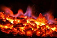 Fuego del carbón Imagen de archivo libre de regalías