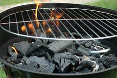 Fuego del carbón de leña Foto de archivo libre de regalías