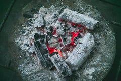 Fuego del carbón de leña Fotografía de archivo