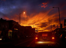 Fuego del cielo foto de archivo