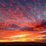 Fuego del cielo Imagen de archivo libre de regalías