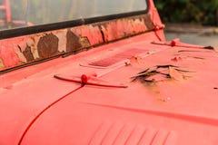 Fuego del coche viejo Fotografía de archivo libre de regalías